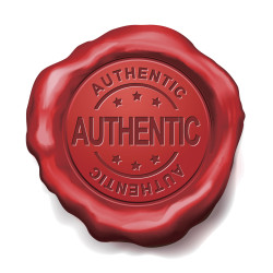 authentic red wax seal