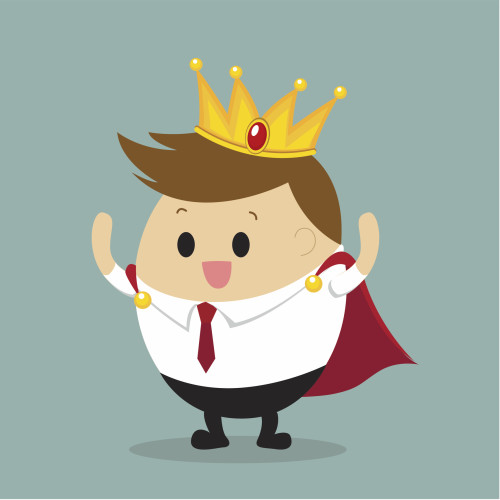 Vector of Businessman dress as King